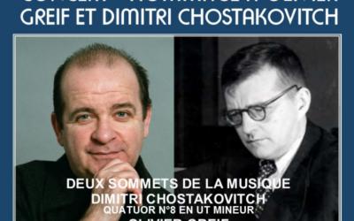 Concert Hommage à Olivier Greif et Dimitri Chostakovitch (Affiche ULIF Copernic)