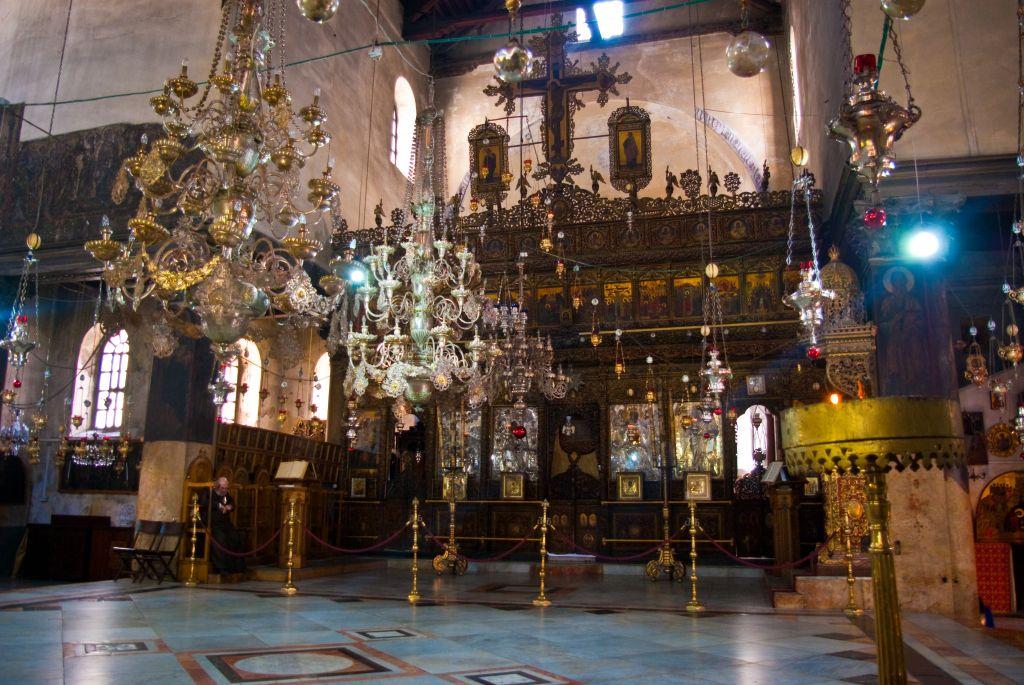 Iconostase de l'Eglise de la Nativité, à Bethléem. (Crédit : Antoine Taveneaux, CC BY-SA 3.0, WikiCommons)