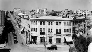 La place Sion en 1835 (Crédit : Bureau du gouvernement)
