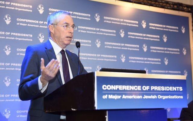Le Général Michael Herzog, chercheur à l'Institut de planification de la politique juive à la Conférence des présidents à Jérusalem, le 15 février 2016 (Crédit : Tamir Hayoun)