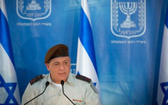 Le chef d'Etat major de l'armée israélienne, Gadi Eizenkot (Crédit : Miriam Alster/Flash90)