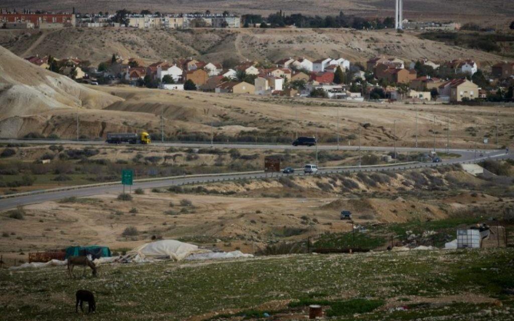 Vue d'ensemble sur Yeruham. (Crédit : Miriam Alster/Flash 90)