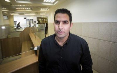 Menny Naftali, ancien employé de la résidence du Premier ministre, au tribunal du travail du district de Jérusalem, le 25 mars 2015. (Crédit : Yonatan Sindel/Flash90)