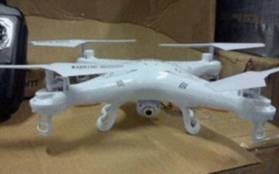 Un drone saisi par Israël avant qu'il n'entre dans la bande de Gaza. (Crédit : ministère israélien de la Défense)