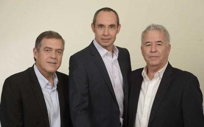 Kobi Rozengarten, Gadi Tirosh and Raffi Kesten de JVP (Crédit : Autorisation)