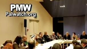 Trois députés arabes israéliens rencontrent les familles de terroristes palestiniens, le 2 février 2016. (Crédit : Palestinian Media Watch)