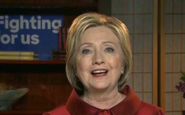 La candidate à l'investiture démocrate à la présidentielle américaine et ancienne secrétaire d'Etat Hillary Clinton sur la CNN le 21 février 2016 (Crédit : Capture d'écran CNN)