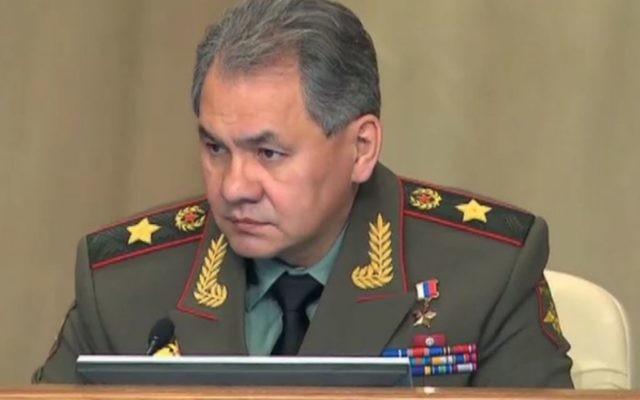 Sergueï Choïgou, ministre russe de la Défense, en 2013. (Crédit : Kremlin.ru/CC BY 4.0/WikiCommons)