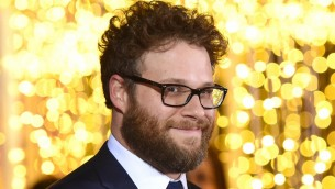 "Seth Rogen à la première de ""The night before"" à Los Angeles, le 18 novembre 2015. (Crédit : Jason Merritt/Getty Images/JTA)"