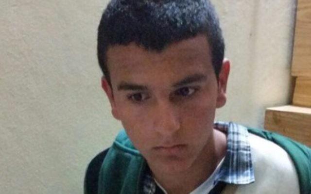 Morad Bader Abdullah Adais, arrêté le 17 janvier 2016 pour le meurtre de Dafna Meir (Crédit : Autorisation)