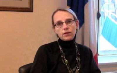 Hélène Le Gal, prochain ambassadeur de France en Israël. (Capture d'écran : YouTube/Vœux 2012 d'Hélène Le Gal, Consul général de France à Québec)