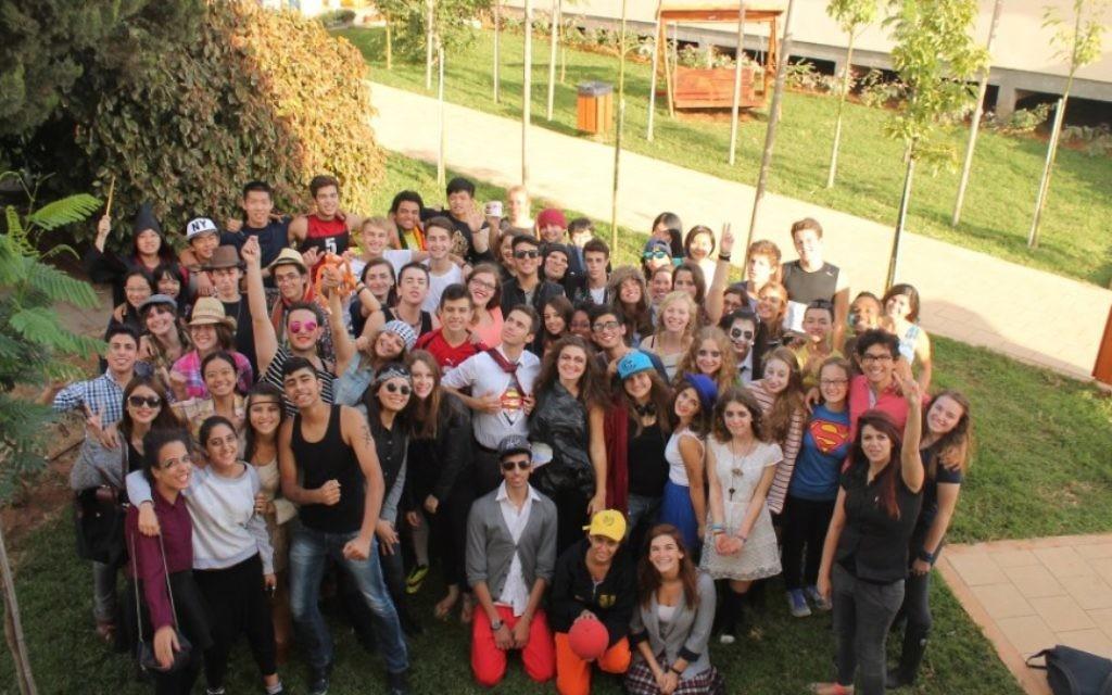 Des étudiants de l'école EIMO de Ramat Hasharon (autorisation)