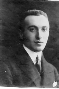 Moriz Scheyer, jeune homme en Europe (autorisation)