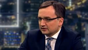 Le ministre polonais de la Justice Zbigniew Ziobro. (Crédit : capture d'écran YouTube)