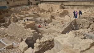 Vue générale du site de fouilles. (Crédit : autorité israélienne des antiquités)