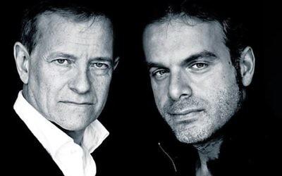 Francis Huster et Steve Suissa (Crédit : Facebook/Festival du Cinéma Israélien de Paris)