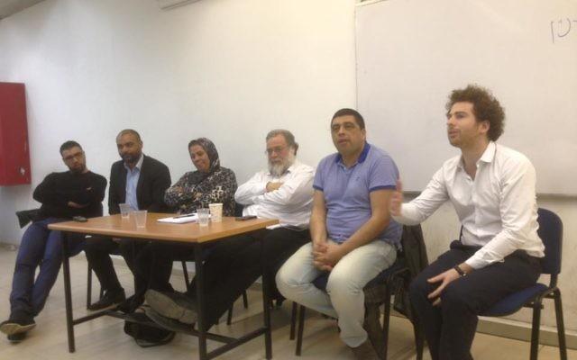 Dominique Sopo, Latifa Ibn Ziaten et Sacha Reingewirtz en compagne des membres du Cercles des parents endeuillés (Crédit : Facebook/Union des Etudiants Juifs de France [ UEJF ])