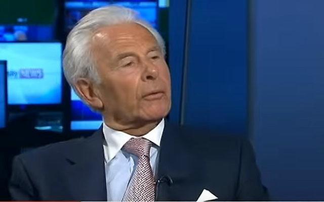 Lord Levy, l'ancien agent de financement en chef du parti travailliste en Grande-Bretagne (Crédit : Capture d'écran YouTube)