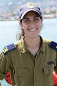 Or Cohen, première femme à commander un vaisseau de la marine israélienne, en novembre 2014. (Crédit : unité des portes-paroles de l'armée)