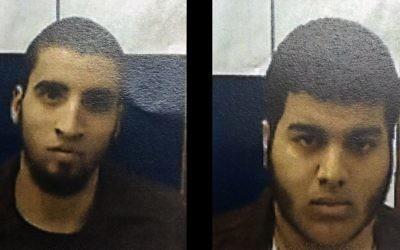 Ahmad Nabil Ahmad Ahmad, à gauche, et Bahaa Eldin Ziad Hassan Masarwa, à droite, ont été accusés de complot en vue de commettre un crime (Crédit : Shin Bet)