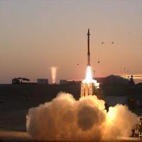 Un test du système de défense anti-missile Fronde de David (Crédit : ministère de la Défense)