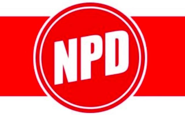 Logo du NPD allemand (Crédit : Wikimedia commons)