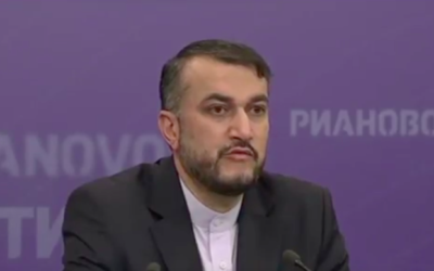 Hossein Amir-Abdollahian (Crédit : Capture d'écran YouTube)