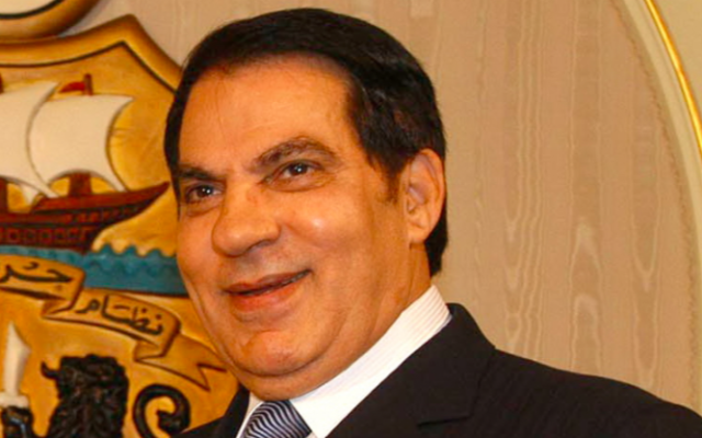 Zine El-Abidine Ben Ali (Crédit : CC BY 2.0/Wikimedia Commons)