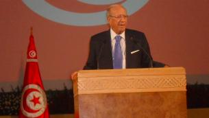 Le président tunisien Béji Caïd Essebsi. (Crédit : Magharebia/CC-BY-2.0)