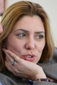 La porte-parole de la police israélienne Merav Lapidot, le 28 novembre 2007. (Crédit : Moshe Shai/FLASH90)