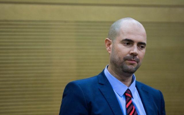 Le député du Likud, Amir Ohana (Crédit : Yonatan Sindel / Flash90)