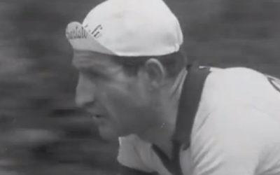 Le cycliste italien Gino Bartali (Crédit : Capture d'écran YouTube)