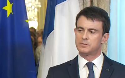 Manuel Valls à Bruxelles, en Belgique, le 23 mars 2016. (Crédit : capture d'écran YouTube)