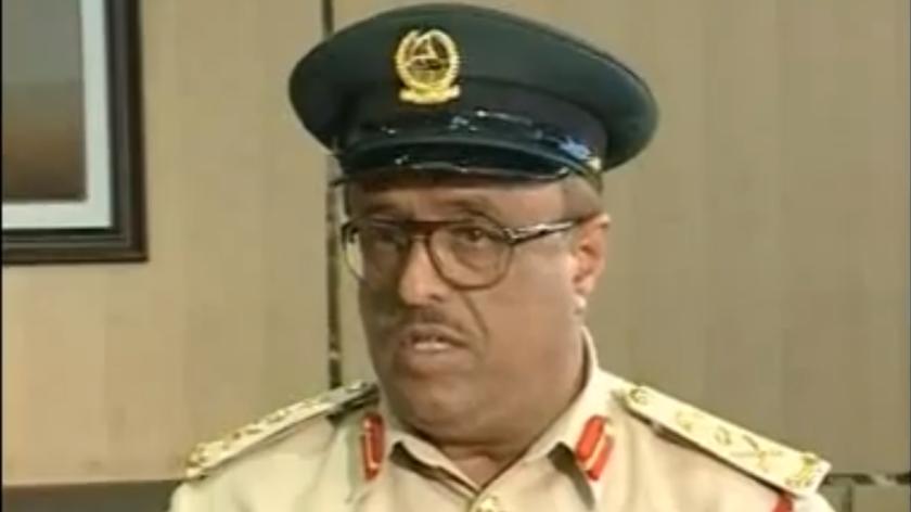 Le chef-adjoint de la police de Dubaï et de la sécurité générale, le général Dhahi Khalfan Tamim (Crédit : Autorisation de Twitter)