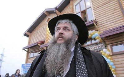 Le rabbin Moshe Azman, fondateur de la communauté d'Anatevka près de Kiev, en Ukraine, le 29 février 2016. (Crédit : R. Litevsky/autorisation du bureau du rabbin Moshe Azman)