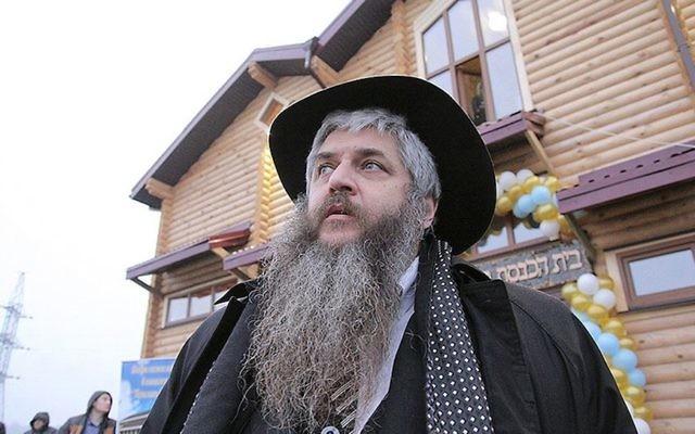 Le grand rabbin d'Ukraine Moshe Azman, fondateur de la communauté d'Anatevka près de Kiev, en Ukraine, le 29 février 2016. (Crédit : R. Litevsky/autorisation du bureau du rabbin Moshe Azman)