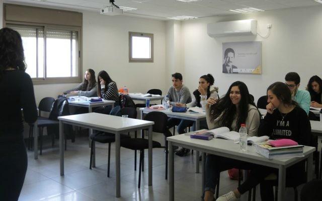 Des élèves arabes israéliens, le 3 mars 2016. (Melanie Lidman/Times of Israel)