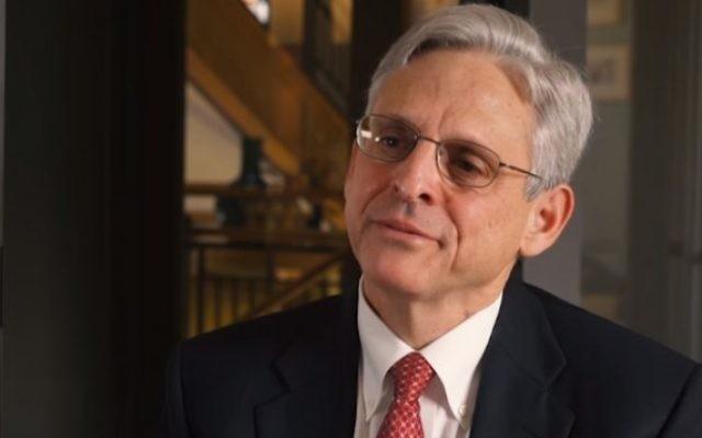 Le nominé à la cour suprême américaine Merrick Garland (Crédit : capture d'écran YouTube/White House)