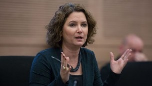 La députée du Meretz Michal Rozin lors s'une session d'une commission de la Knesset, le 14 décembre 2015. (Crédit : Yonatan Sindel/Flash90)