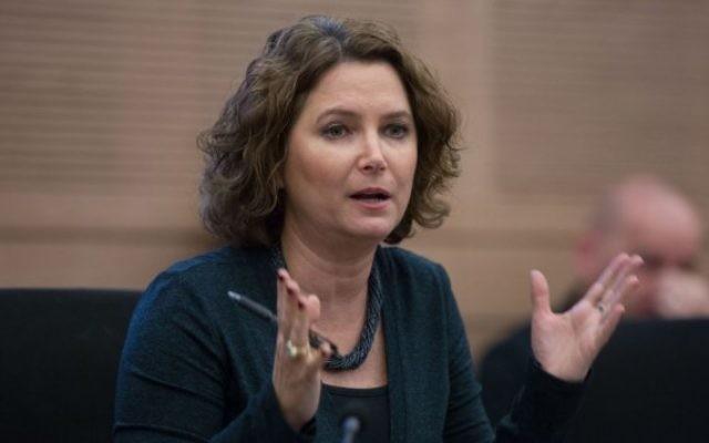 La députée du Meretz Michal Rozin lors d'une session d'une commission de la Knesset, le 14 décembre 2015. (Crédit : Yonatan Sindel/Flash90)