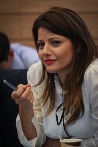 La députée Orly Levy-Abekasis lors s'une session de la commission des Finances à la Knesset le 22 juin 2015. (Crédit photo: Hadas Parush / Flash90)