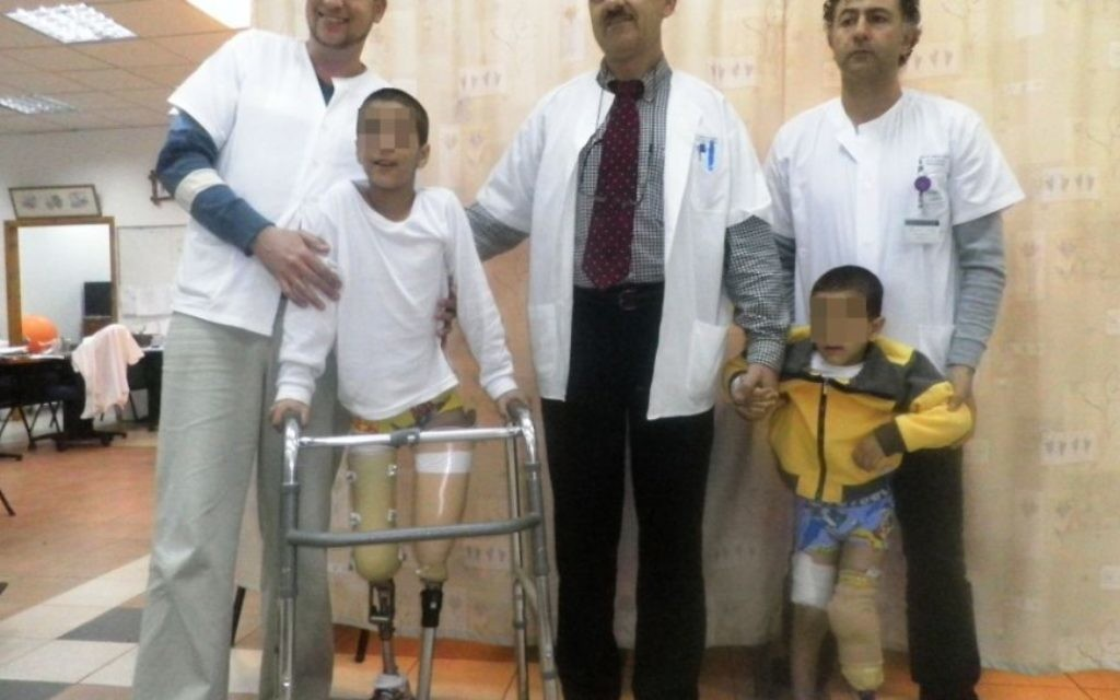 Des enfants syriens soignés à l'hôpital Ziv à Safed (Crédit : Autorisation Hôpital Ziv)