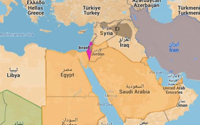 Carte du Moyen-Orient (Crédit : Jcall)