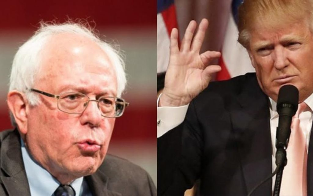 Bernie Sanders (g) et Donald Trump (Crédits : AFP / RHONA WISE / Geoff Robins)