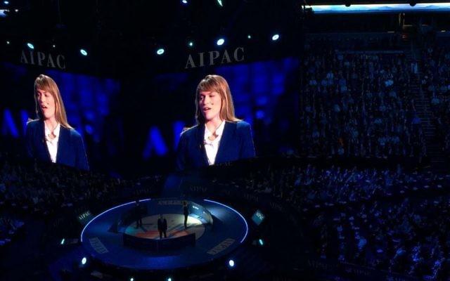 Les représentants d'IsraAID à l'AIPAC (Crédit : Autorisation)