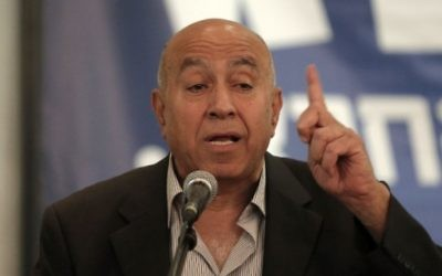 Zouheir Bahloul, député de l'Union sioniste. (Crédit : Ahmad Gharabli/AFP)