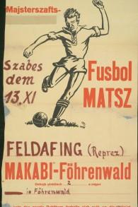 Match de football. Équipes Feldafing vs Föhrenwald. (Crédit : Translittéré yiddish. © YIVO)