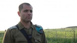 Yigal Katzav, commandant de la base d'entraînement du Corps d'artillerie. (Crédit : unité des portes-paroles de l'armée)