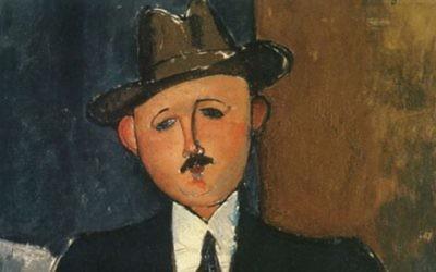 """""""L'homme assis appuyé sur une canne"""" d'Amedeo Modigliani, 1918"""