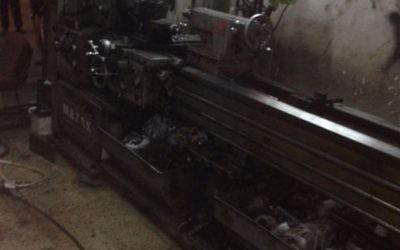 un atelier de production d'armes découvert par les forces de sécurité à Abu Dis, le 21 avril 2016. (Crédit : police israélienne)